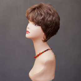 Парик женский из натурального волоса  модель ZIZI HH MONO